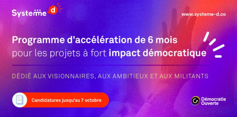 Tous Elus sélectionné pour rejoindre Système D, l'accélérateur d'innovations démocratiques !