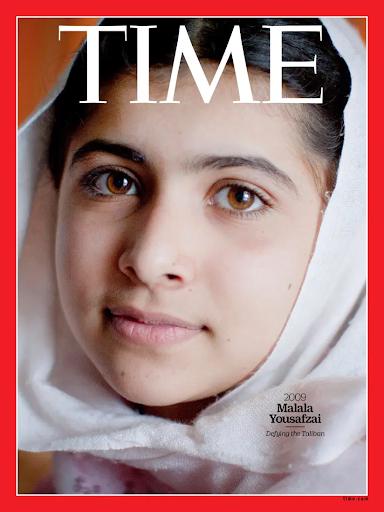 Malala Yousafzai dans le Time